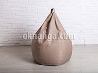 Кресло мешок груша большая |  кофейный шенилл Bonus, фото 1