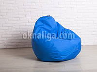 Кресло мешок груша   голубой Oksford