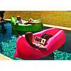 Ламзак надувной диван Lamzac гамак, шезлонг, матрас Двухслойный Розовый, фото 3