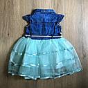 Фатиновое платьес джинсовым верхом 2-3-4-5 лет, фото 2
