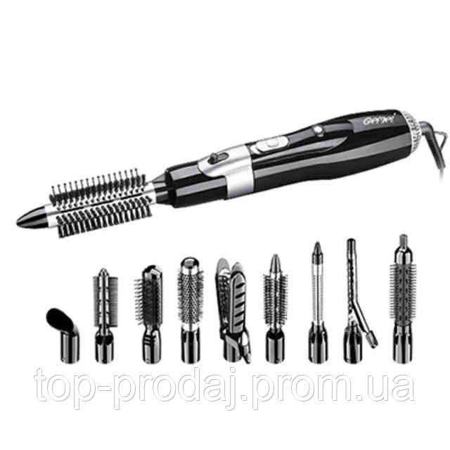 Фен GM 4833,10 в 1 Стайлер фен для волос, Утюжок плойка, Фен с насадками, Стайлер для волос, Набор для укладки