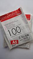 Пластиковый канцелярский файл-вкладыш А5,25мкм.Папка-файл с перфорацией.Карман формат А5, с вертикальной перфо