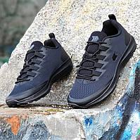 Мужские кроссовки сетка черные на весну лето, подошва из пенки не проваливается, легкие и удобные (Код: Б1363а)
