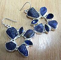Серебряные серьги с  танзанитами от студии LadyStyle.Biz, фото 1