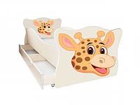 Кровать с ящиком Viorina-Deko Animal 14 Жираф Бежевый с желтым 70×140