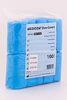 Medicom Бахилы полиэтиленовые текстурированные голубые, 100 шт.