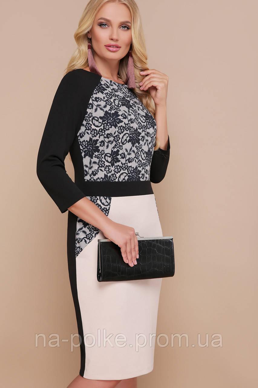 7a2a9287395 GLEM Узор черный платье Ксена-Б д р - Интернет-магазин одежды и
