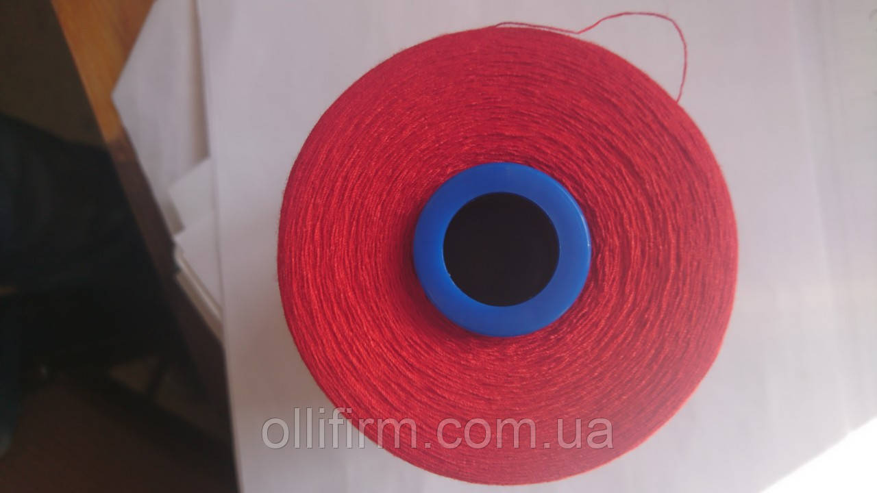 Нитки швейные малиновые, красные 03855 Coats Firefly 70, 5000m