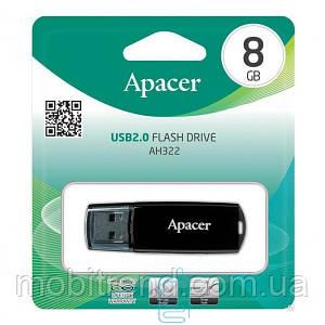 USB Флешка 8GB Apacer AH322 черная