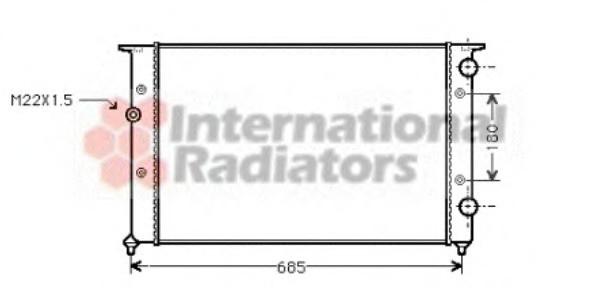 Радиатор водян. VW B-3 1.9D/TD 628x377