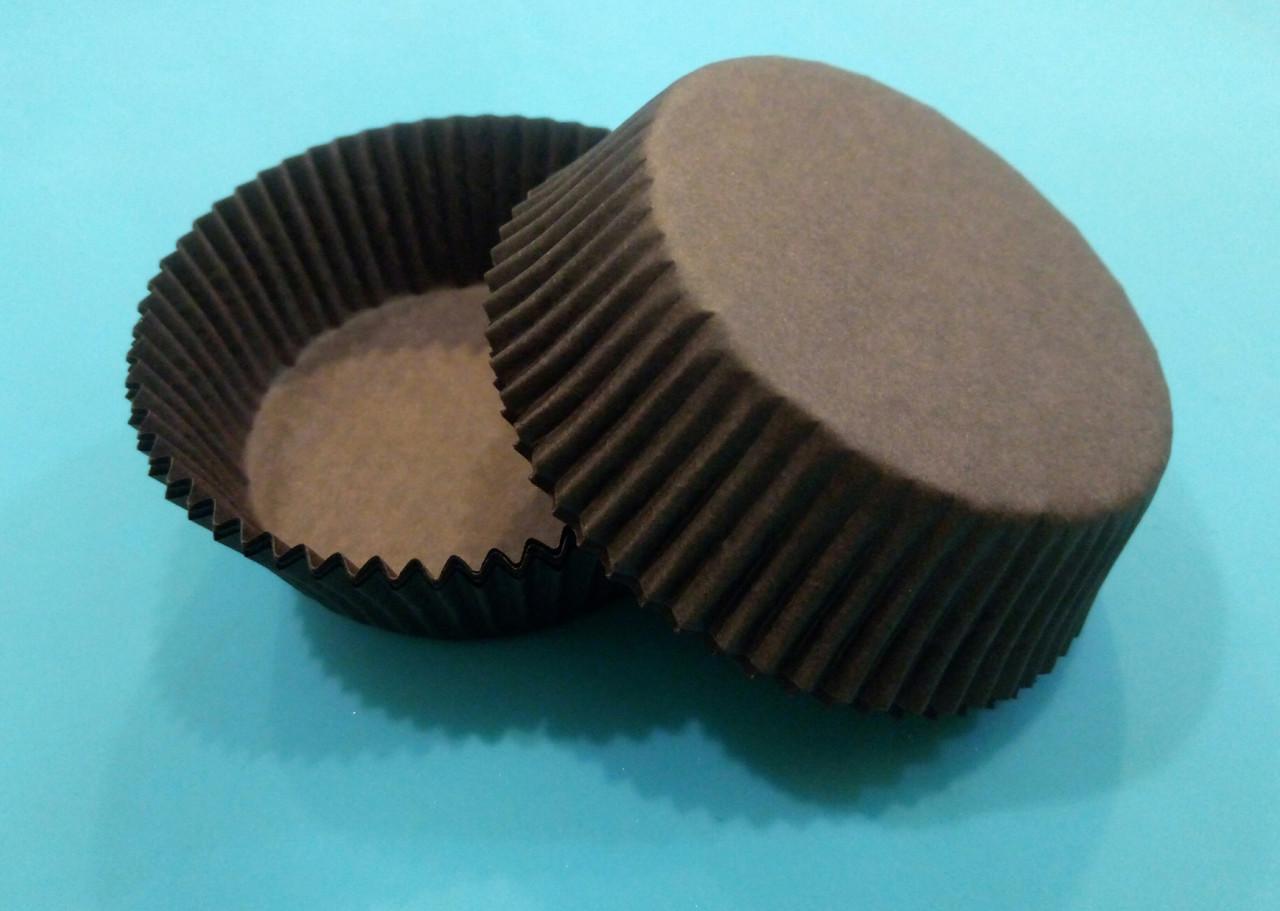 Тарталетки (капсулы) бумажные для кексов, капкейков коричневые 60*23 мм