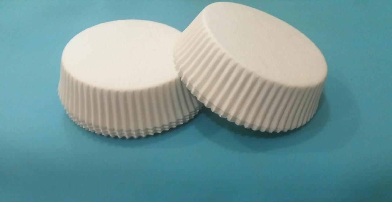 Капсулы (тарталетки) для кексов (белые) 80*25 мм