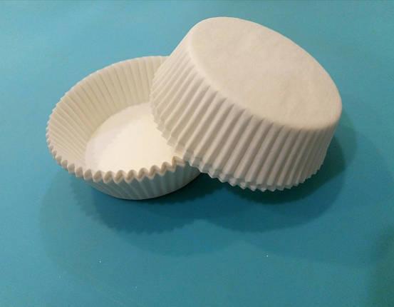 Капсулы (тарталетки) для кексов (белые) 60*23 мм, фото 2