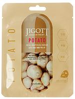 JIGOTT Ампульних тканинна маска з екстрактом картоплі