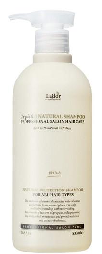 Акція -15% Органический шампунь Lador Triplex Natural Shampoo с растительными экстрактами 530 мл
