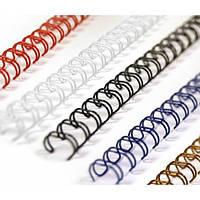 Металическая пружина переплетная 25.4 мм, белые (25 шт) (уп.) формата А4, шаг 2:1