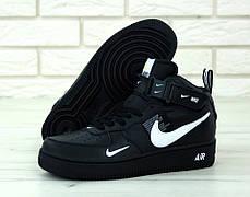 Мужские кроссовки Nike Air Force 1 Mid 07 L.V.8 Utility Pack Black. ТОП Реплика ААА класса., фото 3