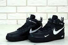 Мужские кроссовки Nike Air Force 1 Mid 07 L.V.8 Utility Pack Black. ТОП Реплика ААА класса., фото 2
