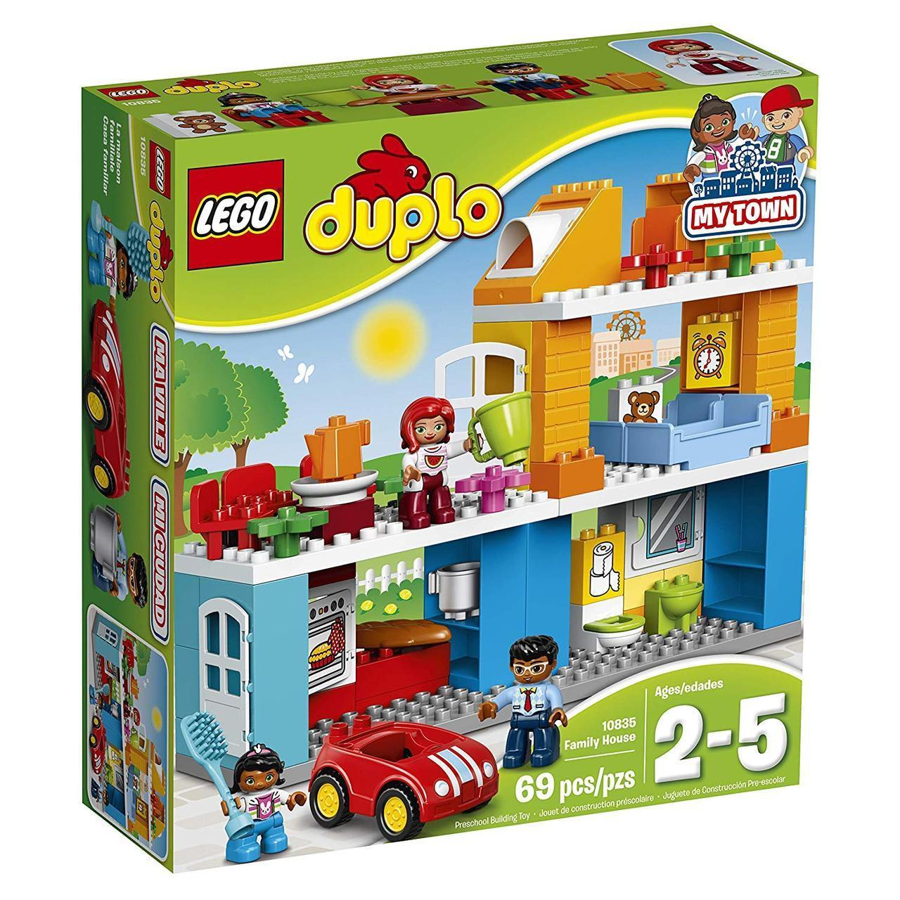 c08a99be3b3 Конструктор Лего Дупло Оригинал Lego Duplo My Town Family Семейный дом  (10835) -