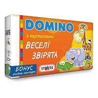 Домино детское Strateg Веселые зверята укр. (747,30665)