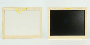 Доска для рисования детская двусторонняя Игруша 40*30 см