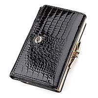 80f995def126 Кошелек женский ST Leather 18373 (S1201A) средний размер Черный, Черный