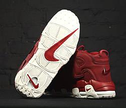 Женские и мужские кроссовки Nike Air More Uptempo Bordeaux, фото 2