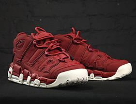 Женские и мужские кроссовки Nike Air More Uptempo Bordeaux, фото 3