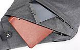 Мужская сумка-кобура через плечо Arctic Stone gray, фото 2