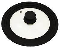 Крышка универсальная Vitrinor Spain Black 18/20/22см стеклянная с силиконовым ободком