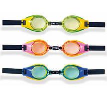 Intex Очки для плавания 55601 (12) 3 цвета, на листе, 3-10лет / 19,2-12,5см