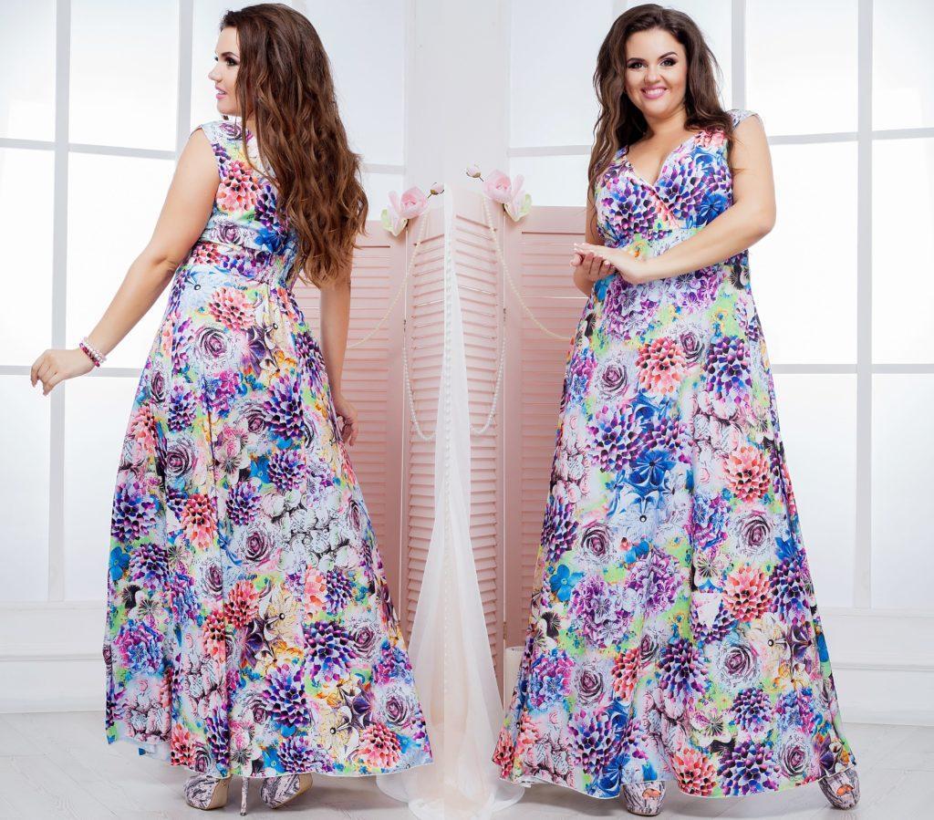 Летнее платье в пол расцветка 2 8167