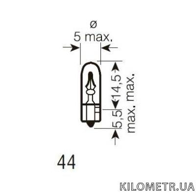 Галогенная лампа Magneti Marelli W1.2W 12В 1.2Вт (003721100000)