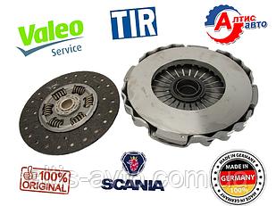 Комплект сцепления Scania серия 4 P,G,R,T (оригинал Valeo) 340 360 380 400 420 440 (диаметр 430 мм)