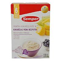 Каша молочная Semper Кукурузная с черникой, 250 г   ТМ: Semper