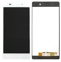 Диcплей c тачcкрином Sony D6708 Xperia Z3v белый (HQ)