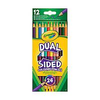 Набор двухсторонних цветных карандашей Crayola 12 шт.  68-6100 ТМ: Crayola