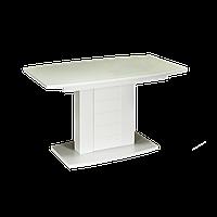 Стол обеденный деревянный Бристоль RAL1015 120*70 Glass ольха
