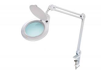 Лампа-лупа мод. 8062-3D LED (3 диопт.)БОЛЬШАЯ ЛИНЗА, крепление к столу
