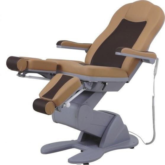 Педикюрно-косметологическое кресло на 3х электромоторах ZD-896-3А, цвет-кофе с молоком