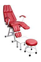 Кресло педикюрное -косметологическое кресло с раздельной подножкой КП-3.1