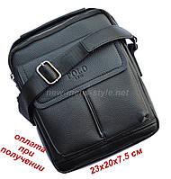 Чоловіча чоловіча шкіряна сумка барсетка через плече з ручкою POLO NEW, фото 1