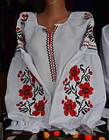 """Вишита жіноча сорочка в стилі бохо """"Черлена квітка"""", фото 1"""