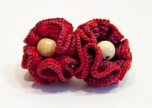"""Резинка для волос Ярмирина """"Любимка"""" с вязаными цветами ручной работы, коллекционная"""