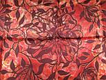 Платок шелковый (атлас) 10153-5, павлопосадский платок (атласный) шелковый с подрубкой, фото 6
