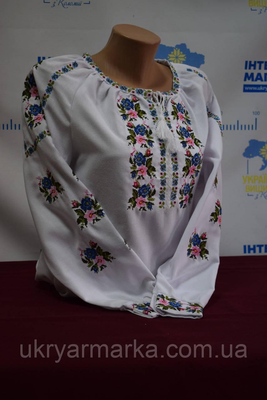 12a9a128f52a00 Жіночі блузки вишиванки з квітами