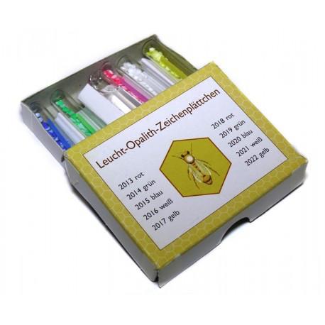 Мітки для маток 5 кольорів х 65шт + клей