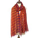 Импульс 10065-6, павлопосадский шарф-палантин шерстяной (разреженная шерсть) с осыпкой, фото 3