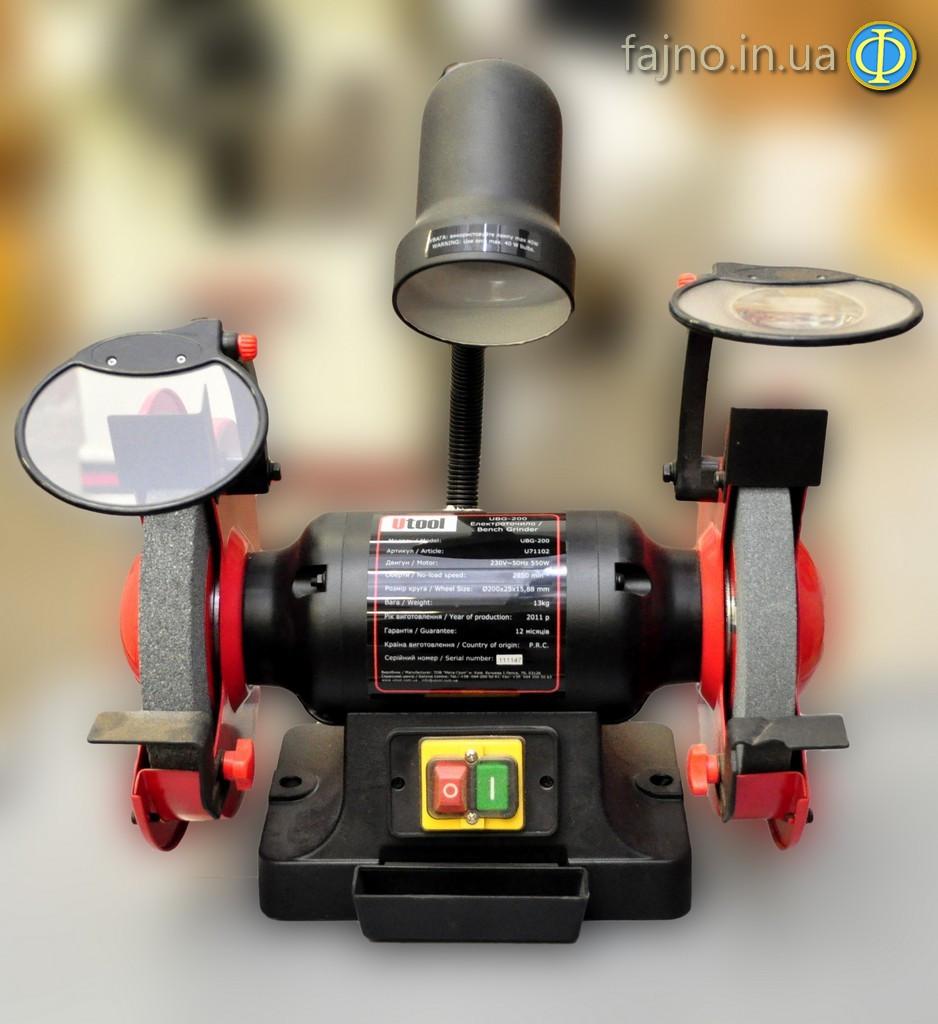 Точильно-шлифовальный станок Utool UBG-200 фото 1