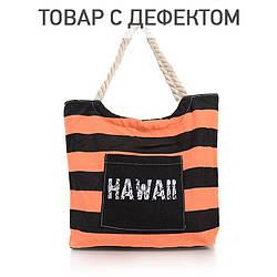 Cумка женская пляжная B1268BCblack-orange